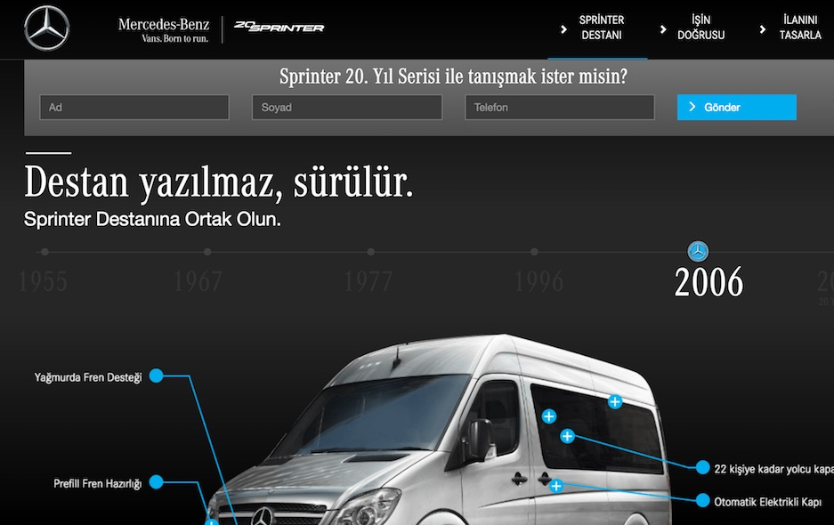 Mercedes Sprinter | Yollara Destan